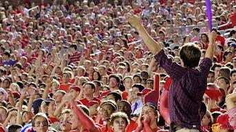 SMU football fans