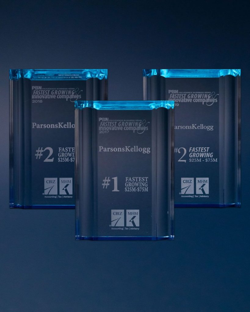 ParsonsKellogg Named One Of Providence Business News' Fastest Growing Companies for Three Consecutive Years